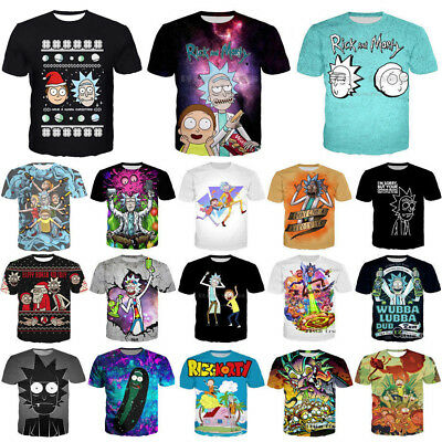 New Women Men Rick and Morty Funny Print 3D T-Shirt Casual Short Sleeve Tee Gift