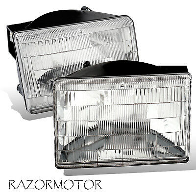 1993-1998 Replacement Headlight Set For Jeep Grand Cherokee Pair wBulb