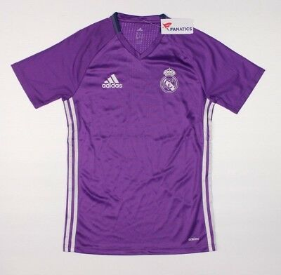 ADIDAS ICC Real Madrid CF Training Purple Jersey NWT 60 Soccer Football D3B