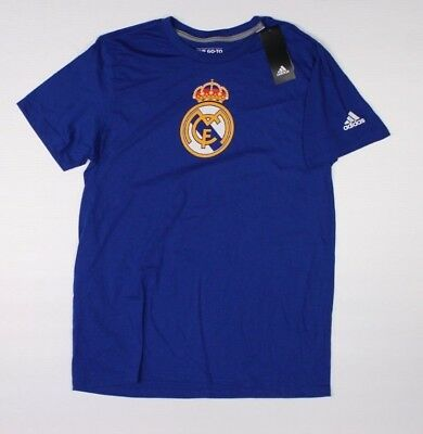 Adidas ICC Real Madrid Blue T-Shirt NWT International Cup Soccer Football F1B