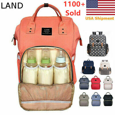 LAND Baby Diaper Bag Maternity Nappy Backpack Multifunction Travel Waterproof