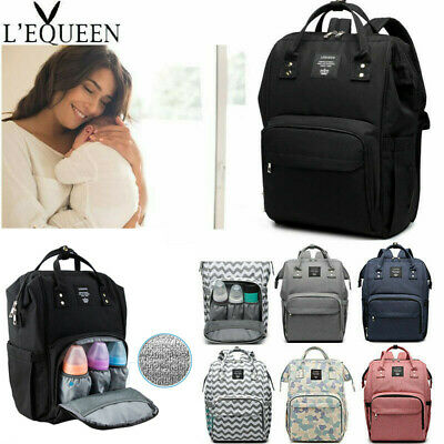 LEQUEEN Mummy Maternity Nappy Diaper Bag Large Capacity Baby Changing Backpack