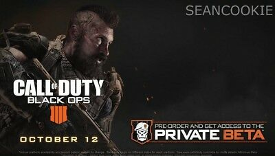 Call of Duty Black Ops 4 BETA Key PS4XBOX ONEPC