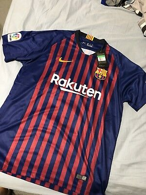 FC Barcelona Mens Home Soccer Jersey Messi 2018 2019 size XL