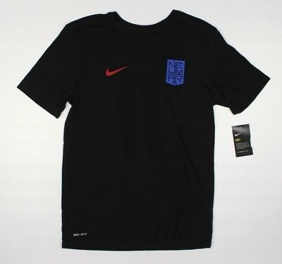 Nike Neymar Jr 11 Black T-Shirt NWT FC Barcelona Soccer Football