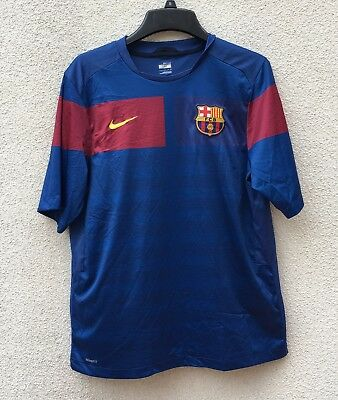 FC Barcelona Nike Training Blue Jersey Fit Dry Soccer Futbol Adult Medium