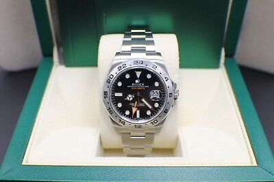 BRAND NEW Rolex Explorer II 216570 Stainless Steel Black Box - Booklets 42mm