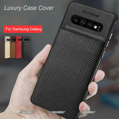 Samsung Galaxy S9  S8 Plus Note 8 Luxury Leather Thin Slim Hard Skin Case Cover