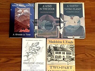 A Wrinkle in Time Trilogy Madeleine L'Engle Complete 1-3   2 are HCDJ 1 TradePB
