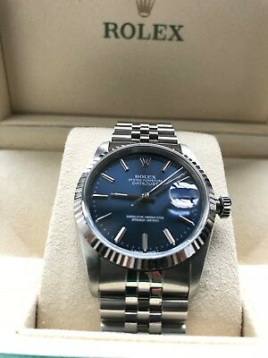 Rolex Gents DateJust Oyster Perpetual Beautiful Blue Immaculate Condition