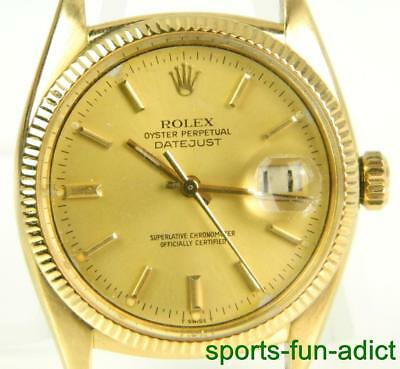18K RARE Vtg ROLEX 1954 Brevet - Datejust Yellow Gold Automatic Watch Case 6305