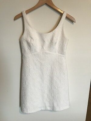 ZARA White Textured Mini Dress Size S