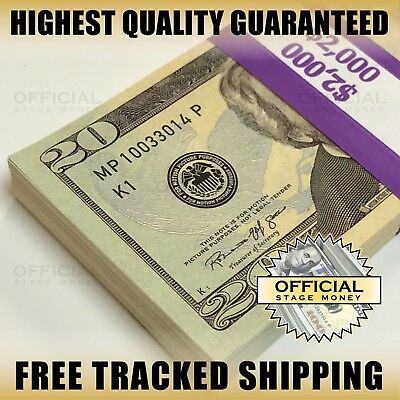 2000 - Stack For Film Movies Videos Play Prank Fake Replica Copy Prop Money