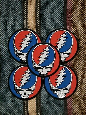 5 Grateful Dead Steal Your Face Stickers- 3 Inch-
