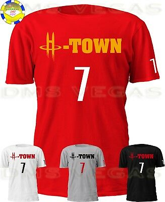 Houston Rockets Carmelo Anthony H-Town 7 Jersey Tee Shirt Men Size S-5XL