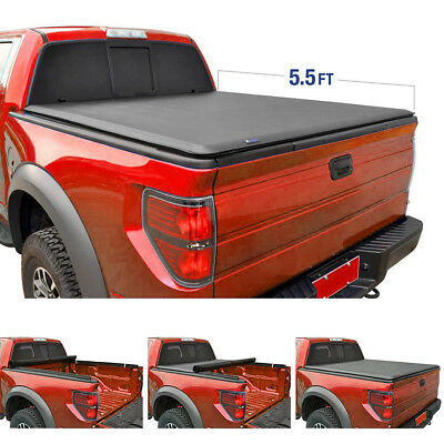 New 5-5 Ft 66 Bed Soft Roll - Lock Tonneau Cover for Ford F-150 StyleSide 15-18