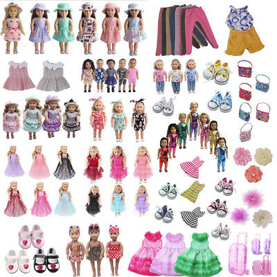 Handmade Doll Clothes Dress Pajama Shoes Bag Accessory For 18in American Girl