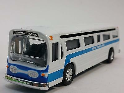 Classic New York City Bus Diecast CAR Model with pull back 6 inch Long