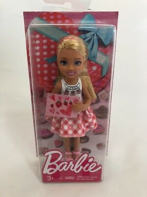 Barbie Little Sister Chelsea Pink Dress Valentine Doll Mattel NIB