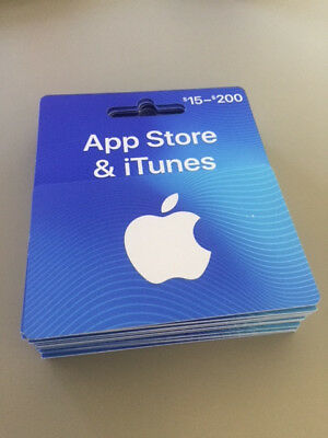 100 Apple iTunes App Store Gift Card Apps Movies Music - Physical Card