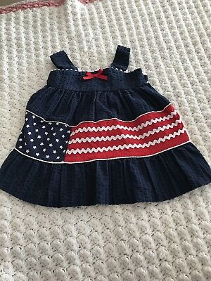 Fourth Of July Flag Baby Dress