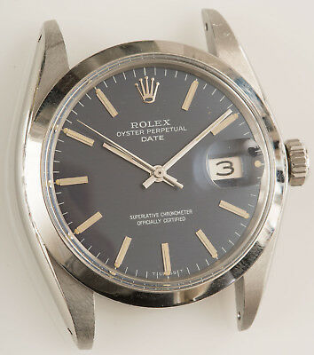 VINTAGE 1968 ROLEX OYSTER PERPETUAL DATE MANS WATCH REF 1500 RUNS BUT NEEDS TLC