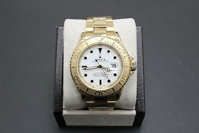 Rolex Yacht Master 18K Yellow Gold 16628 40MM White Dial