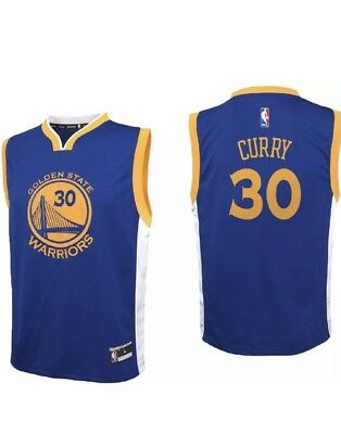 Adidas GOLDEN STATE WARRIORS Youth L  NBA Basketball Jersey STEPH CURRY NWOT