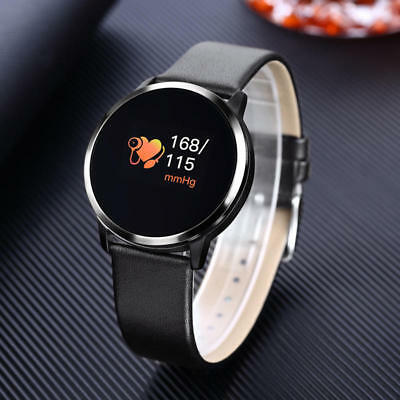 Newest Q8 0-95 OLED Color Screen With Blood Pressure Heart Rate Smart Watch-USA
