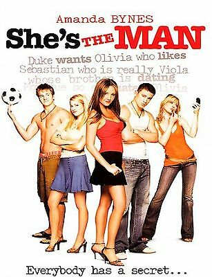 Shes the Man DVD2006 Mint in WSAmanda BynesChanning TatumSame Day Ship