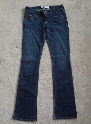 Hollister Co- Medium Wash Low Rise Boot Cut Jean- Size 3 Regular-