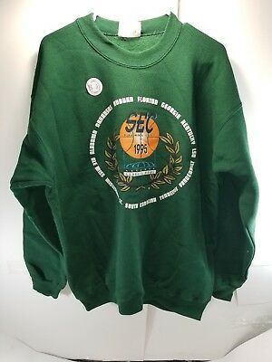 Vintage 1995 Basketball SEC Tournament Sweatshirt New w Sticker Georgia Dome XL