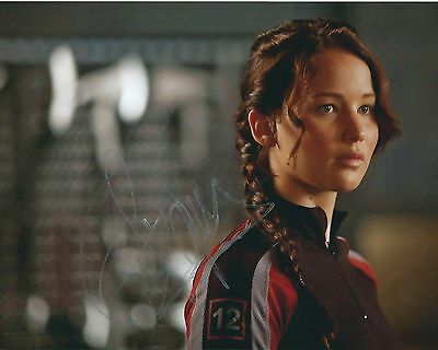 Jennifer Lawrence Hunger Games Sexy Signed Authentic Autographed 8x10 COA