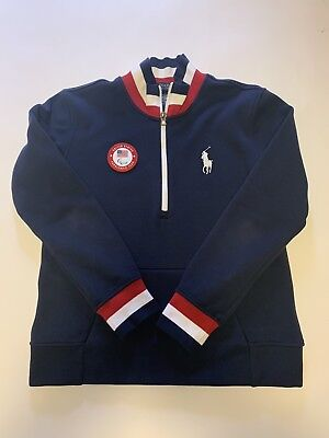 Team USA Paralympic Polo Ralph Lauren Olympic 2018 12 zip Pull Over-