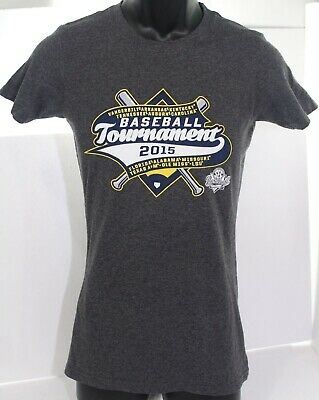 SEC Baseball Tournament 2015 Womens Gray T Shirt College Sports Apparel Sz Small
