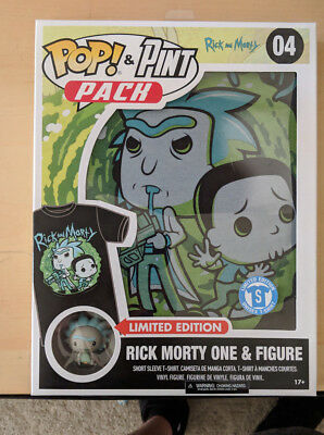 Funko Pop - Pint Pack Rick and Morty sealed Size S Limited Edition