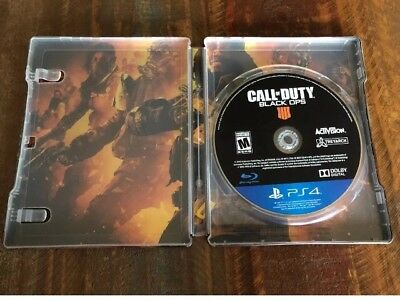 Call Of Duty Black Ops 4 PS4 Steelbook and Game