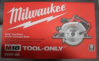 NEW Milwaukee M18 18 volt Cordless Heavy-Duty Circular Saw 3500 rpm 6-12 in-