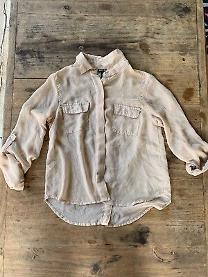 Wet Seal Beige Button Down Blouse Size Women's Small
