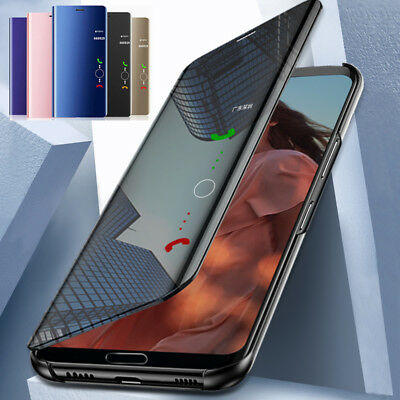 For Xiaomi Redmi Note 9S 9T 8 7 Pro 8A 9C Mirror Leather Flip Stand Case Cover
