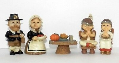 Thanksgiving Figurines New in Box Height Ranges 1 12 to 3 Tall 5 Pieces