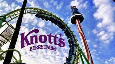 One 1 Knotts Berry Farm AdultChild 1 Day General Admission Ticket Exp 6302019