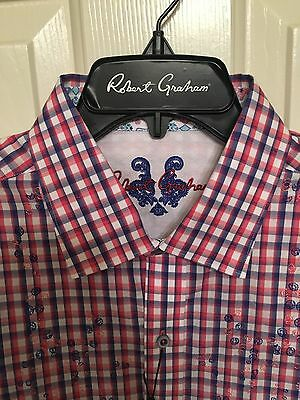NWT Mens Robert Graham Long Sleeve Noserider Shirt Size Medium