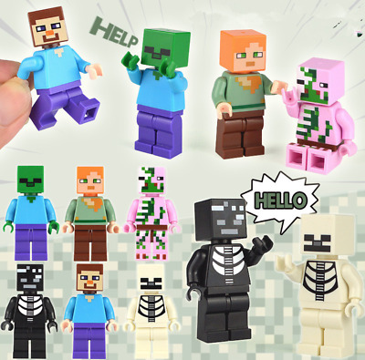 6pcs Compatible Minecraft Lego Type Toy 2018 New Minecrafted Figures