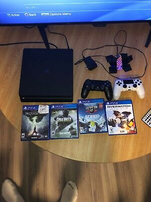 Sony PlayStation 4 Slim 1TB Black Gaming Console Bundle