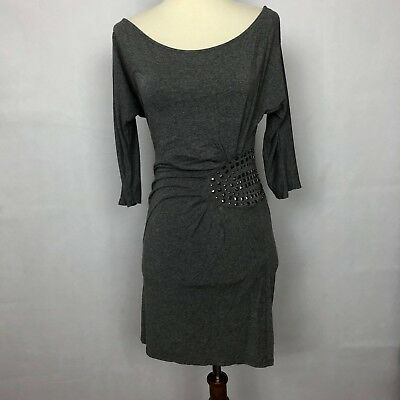 Zara Basic Evening Collection Womans Dress Size Small Grey Embellished