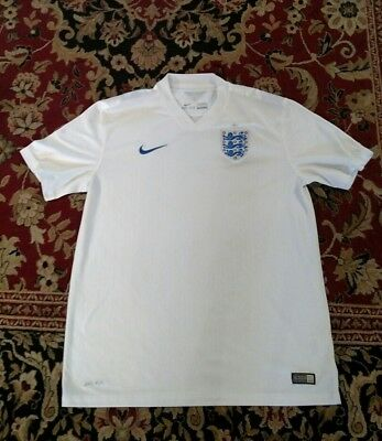 Nike dri-fit England 2014 World Cup Soccer Jersey kit NWOT mens L Authentic