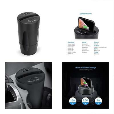 Wireless Car Chargers Charger-QI Fast 10W7-5W5W Charging With USB-Type-C For