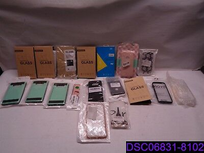Qty  18 Pieces Mix Lot Cell Phone Cases Screen Covers Smart Watch Band