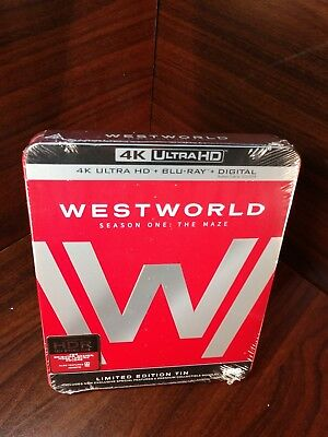 Westworld Complete First Season Steelbook 4K UHDBlu-ray-Digital NEW-Free S-H